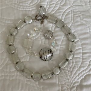 WHBM glass necklace and with bracelet